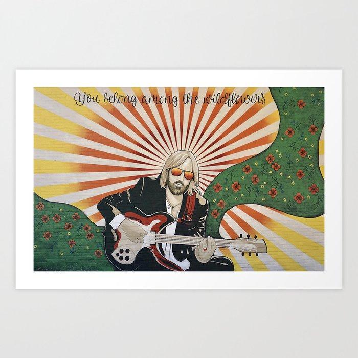 Wildflowers (Tom Petty Tribute Mural, Gainesville) Art Print