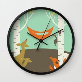 Woodland Baby Wall Clock