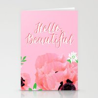 hello beautiful Stationery Cards featuring Hello, Beautiful by Beautiful Revelry