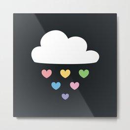Raining hearts Metal Print