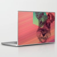 schnauzer Laptop & iPad Skins featuring Schnauzer by MOSAICOArteDigital