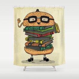 Geek Burger v.2 Shower Curtain