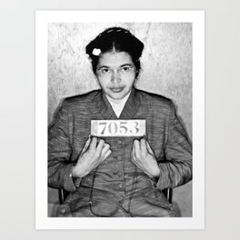Rosa Parks Arrest Photo Art Print