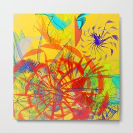 The marathon goes to a heat: abstract art is devoted to athletes to runners Metal Print