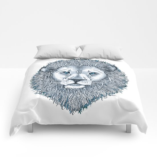 Blue Eyed Lion Comforters