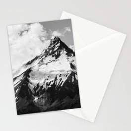 black and white volcano photography | b&w nature landscape Stationery Cards