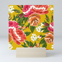 Bageecha || #illustration #botanical #pattern Mini Art Print