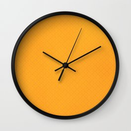 Radiant Yellow Crosses Wall Clock