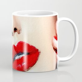 Love And Passion Portrait Of A Woman Crop Coffee Mug
