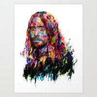 jared leto Art Prints featuring Jared Leto by ururuty