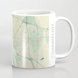 Frankfurt Map Blue Vintage Coffee Mug