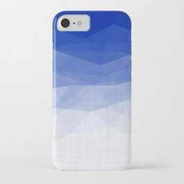 Imperial Lapis Lazuli - Triangles Minimalism Geometry iPhone Case