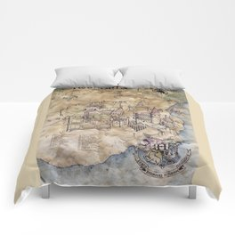 Hogwarts Map Comforters