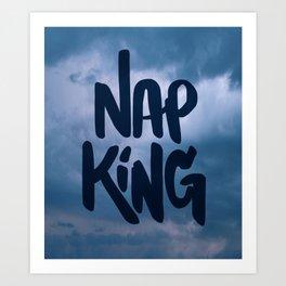 Nap King Art Print