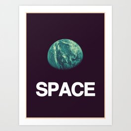 It's Space. Art Print