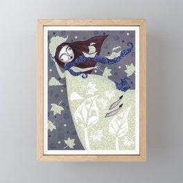 Clouds in November, Autumn Wind Splendor Framed Mini Art Print