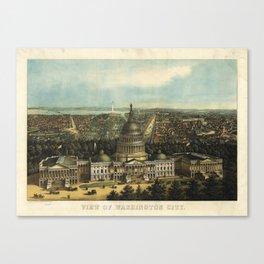 View of Washington City, Washington D.C., (1871) Canvas Print