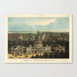 View of Washington City, Washington D.C., (1871) Canvas Print