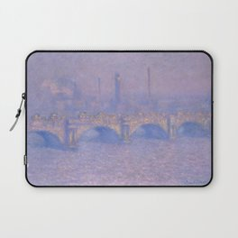 "Claude Monet ""Waterloo Bridge, Effect of Sun"" Laptop Sleeve"
