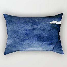 INDIGO ABSTRACT I Rectangular Pillow