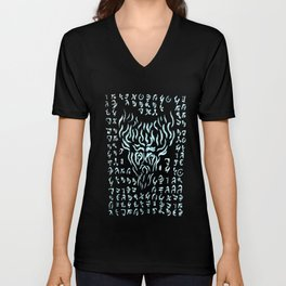 Eldritch Wendigo Blue Unisex V-Neck