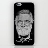 robin williams iPhone & iPod Skins featuring Robin Williams by Svartrev