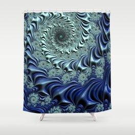 Down the Rabbit Hole - Fractal Art Shower Curtain