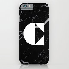 Black Marble - Alphabet C Slim Case iPhone 6