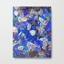Blue On The Rocks Metal Print