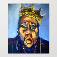 biggie Canvas Prints featuring Biggie by Larry Caveney