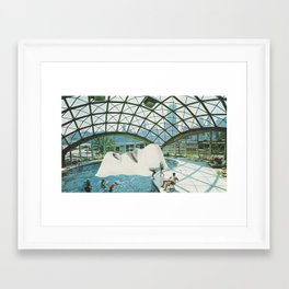 Adults Swim Framed Art Print