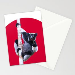 Indri indri sitting in the tree Stationery Cards