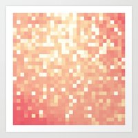 peach Art Prints featuring Peach by Whimsy Romance & Fun