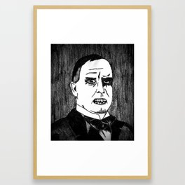 25. Zombie William McKinley  Framed Art Print