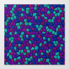 Jewel Tones Mosaic I Canvas Print