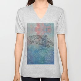 Millennium Falcon Sunset Sky Unisex V-Neck