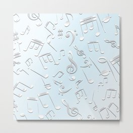 Musical Notes 14 Metal Print