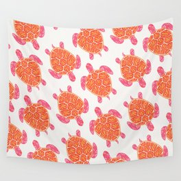 Sea Turtle – Melon Palette Wall Tapestry