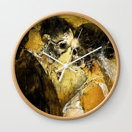 'Til Death do us part Wall Clock