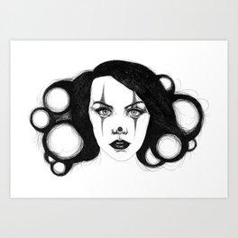 Clown Face Art Print