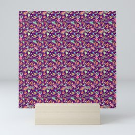 Batik Kebaya Purple SQ Mini Art Print