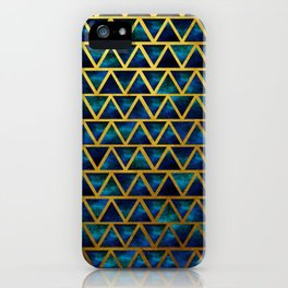 Blue and gold universe iPhone Case