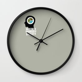 sustain yourself society Wall Clock