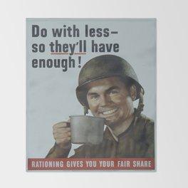 Vintage poster - Rationing Throw Blanket