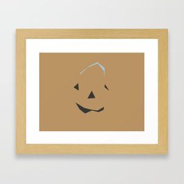 A Sly Little Jack-O-Lantern Framed Art Print