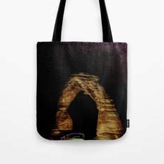 Night Sky Stars - Delicate Arch at Arches National Park Utah Tote Bag