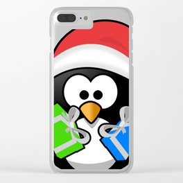 Penguin with Gifts Clear iPhone Case