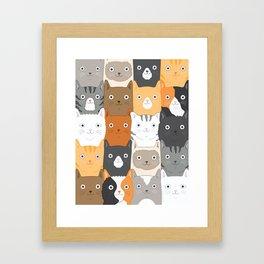 Herded Cats Framed Art Print