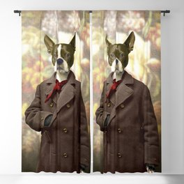 Barney the Boston Terrier in the Arboretum Blackout Curtain