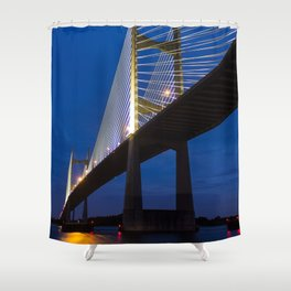 Dames Point Bridge at Twilight Shower Curtain